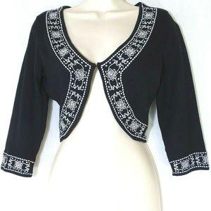 White House Black Market WHBM Shrug Crop Sweater